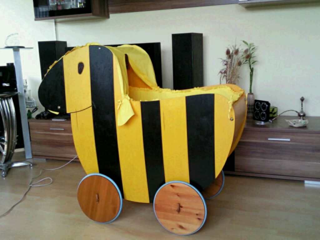 Verkaufen unseren stubenwagen tigerentendesign ein echter blickfang